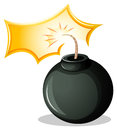 A round explosive bomb illustration of on white background Royalty Free Stock Photo