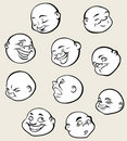 Round faces Royalty Free Stock Photos