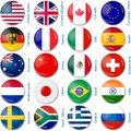 Round flags popular Royalty Free Stock Image