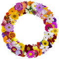 Round floral summer frame Royalty Free Stock Photo