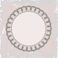 Round floral vintage frame for background Stock Image