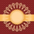 Round frame a background of floral pattern Royalty Free Stock Photography