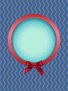 Round frame with bow vector illustration Royalty Free Stock Image