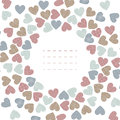 Round frame with colorful hearts isolated on white background Royalty Free Stock Photo