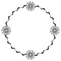 Round frame with floral ornament Royalty Free Stock Photo