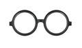 Round frame glasses isolated on white background Royalty Free Stock Photo