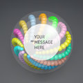 Round Frame with Place for Text. 3D abstract spheres composition Royalty Free Stock Photo