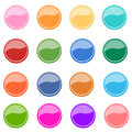 Round glossy buttons colorful internet Stock Images