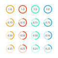 Round graph circular charts, set design templates