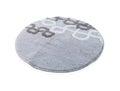 Round grey carpet isolated on white background