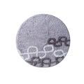 Round grey carpet