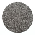 A round grey carpet