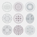 Round grid symbol sets geometric pattern design korean traditional is a Royalty Free Stock Photo
