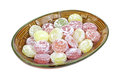 Round Hard Candy Dish Angle Royalty Free Stock Images