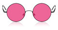 Round hippy glasses with pink lens isolated Royalty Free Stock Photo