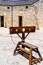 The round house torture stocks fremantle western australia wa november in with punishment and limestone brick Royalty Free Stock Photo
