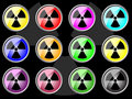 Round icon with DANGER Stock Images