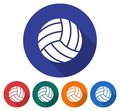Round icon of volleyball
