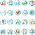 Round Icons 1 Royalty Free Stock Image