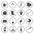 Round Icons Gardening Equipment