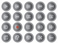 Round Interface Buttons Design Set Vector Illustration Royalty Free Stock Photo