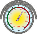 The round iron thermometer Royalty Free Stock Images