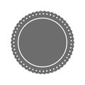 Round label insignia Royalty Free Stock Photo
