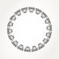 Round lace abstract ornamental circle Stock Photography