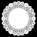 Round Lace Doily, White Royalty Free Stock Image