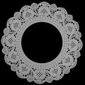 Round lace frame Stock Photos