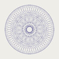 Round lace ornament decorative over white Royalty Free Stock Images