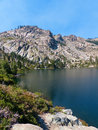 Round lake lakes basin region of the northern sierra nevada mountains Stock Images