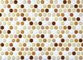 Round marble textures, ball tiles Royalty Free Stock Photo
