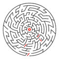 Round maze help white background Royalty Free Stock Photography