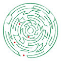 Round maze help white background Stock Photos