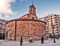 Round medieval church salamanca december san marcos romanesque style from xi or xii century floor of meters diameter city of Royalty Free Stock Photography