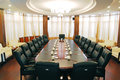 Round meeting room big with modern decoration Stock Photography