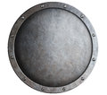 Round metal medieval shield isolated Royalty Free Stock Photo