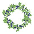 Round natural wreath