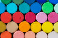 Round oil pastels crayons Royalty Free Stock Photo