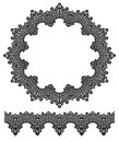 Round openwork lace border. Royalty Free Stock Images