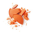 Round orange crashed eyeshadows for make up as sample of cosmetics product