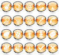Round orange icons Royalty Free Stock Image