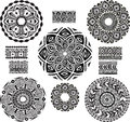 Round Ornament Pattern with pattern brash Royalty Free Stock Photos