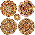 Round Ornament Patterns Royalty Free Stock Photo