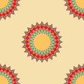Round ornament seamless pattern spirograph background spirographs Stock Image