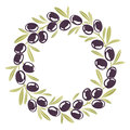 Round ornament Wreath of black olives