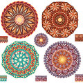 Round ornamental geometric Patterns Royalty Free Stock Photo