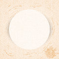 Round paper frame on curly pastel pattern stained vector vintage background Stock Photos