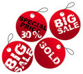Round paper tags for sale Stock Images